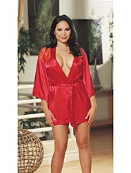 Sex You Plus Size satén dormir Robe con T412 cinturón