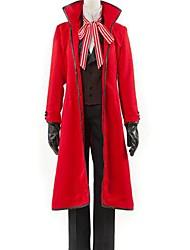 Inspiré par Black Butler Grell Sutcliff Anime Costumes de cosplay Costumes Cosplay Couleur Pleine Rouge Manche LonguesManteau / Veste /