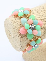 Women's Cute Flowers Fashion Chain Link Bracelets (More Colors)(1pc)