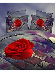 Ailianna 4 Piece 3D HD Digital Print Duvet Set P11