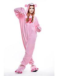 Kigurumi Pajamas New Cosplay® Bear Raccoon Leotard/Onesie Festival/Holiday Animal Sleepwear Halloween Pink Patchwork Polar Fleece Kigurumi