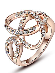 ROXI Korean Style Austria Crystal Rose Gold Diamond Ring