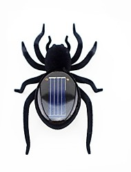 Mini Solar Black Spider Robot for Fun  Gift  Educational Tool