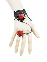 Dotu Flowers Lace Hand Chain Ring One Chain