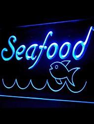Seafood Promotion Vert Bleu Rouge Blanc Orange Violet Jaune Publicité LED Connexion