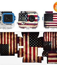 USA Flag Print Sticker for Gopro Hero 3 Cameras
