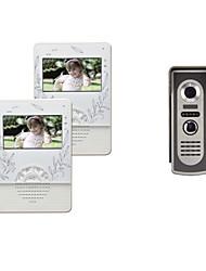 4,3 pouces TFT LCD couleur 420 lignes Video Door Phone avec 1 à 2