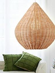 Pendelleuchten Original-Holz Farbe Cane Hand-Woven Modern Country