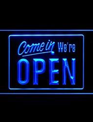 Venite siamo aperti Pubblicità Light LED Sign