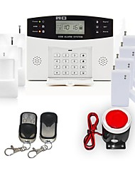 106 Zone Home Security GSM Burglar Alarm System Set with Voice Guide Two Way Intercom