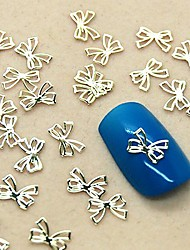 200PCS Lovely Bowtie Design Slice Metal Nail Art Decoration