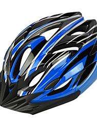 topo das montanhas 18 aberturas de PC + eps luz negra e azul integralmente moldado capacete ciclismo (54-64 centímetros)