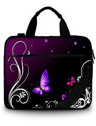 13.3 Inch Purple Butterfly Canvas Tote Bag Case  for All Notebook