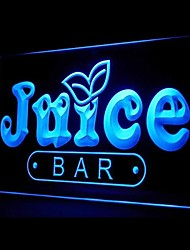 Juice Bar Promotion Green Blue Red White Orange Purple Yellow Advertising LED Light Sign