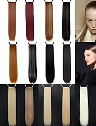 Excelente calidad sintético 24 pulgada de largo Cinta Straight Ponytail del Hairpiece - 18 colores disponibles