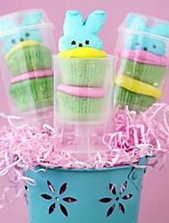 Empty Push Up Pop Plastic Cake Containers for Cupcake Shooters with Lid 12pcs