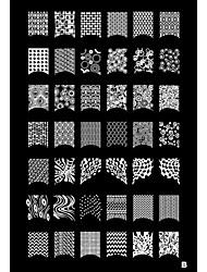 1PCS 42 Plant Pattern Nail Art Stamp Stamping Image Template Plate B