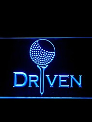 Driven Raceway Racecar Motor Advertising LED Light Sign