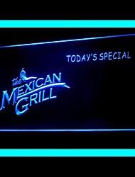 Мексиканская Гриль Реклама светодиодные Вход