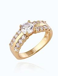 papillons de la mode conception de la bague de zircon en or 18 carats des femmes