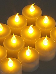 12pcs Flickering LED Battery Operated Tea Lights per Wendding partito