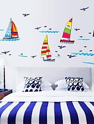 Createforlife® Cartoon Dream Sailing Kids Nursery Room Wall Sticker Wall Art Decals