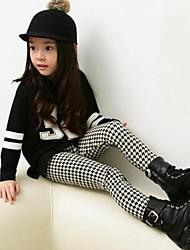 Lässige Mode Joker Komplizierte Grid Leggings Mädchen