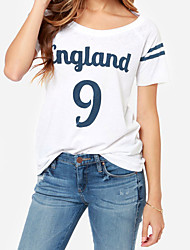 Women's T-Shirts , Cotton Casual HDY