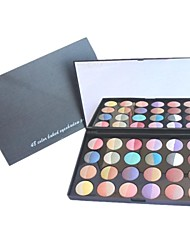 Professionelle 24 Farbe backen mineralisieren Wet / Dry Eye Shadow & Blush Rouge-Palette Make-up-Set mit Spiegel