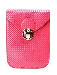 Damen-Mini-PU-Leder Steppbrieftasche Münzfach i phone Schutzhülle Tasche