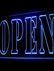 Bem-vindo Publicidade Open Green LED Sign