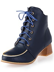 Women's Chunky Heel Booties/Ankle Boots (More Colors)