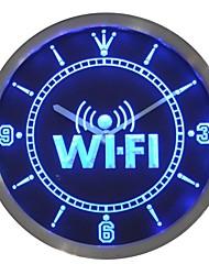 letrero de neón zona wi-fi reloj de pared llevada