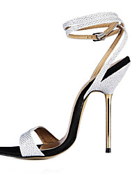 Sparkling Glitter Women's Stiletto Heel Slingback Sandals Shoes(More Colors)
