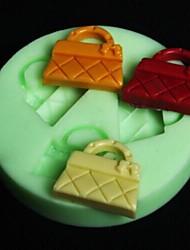 bolsa em forma molde do bolo fondant assar, l6.5cm * w6.5m * h0.8cm