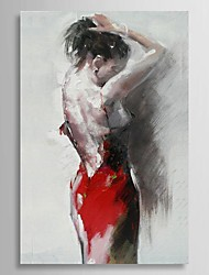 Hand Painted Oil Painting People Sexy Dancer with Stretched Frame