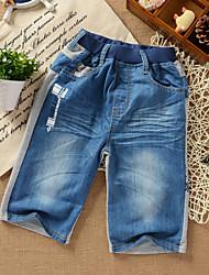 2014 otoño nuevo estilo coreano Elganso Boys 'Lavado Jeans Agua Shorts