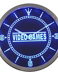 Video Game Display Shop Neon Sign LED Wall Clock