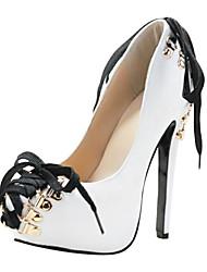Damenschuhe Plattform Pfennigabsatz Pumpen-Schuhe