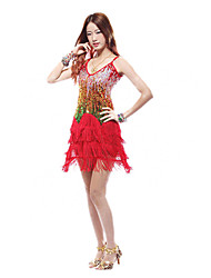 Dancewear Women's Sequins Latin Dance Dress(More Colors)