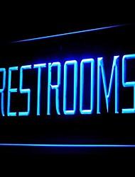 LED Toilette Servizi Igienici Pubblicità Light Sign