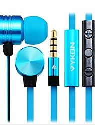 VYKON MK-2 3.5 mm In-ear Earphones with Microphone & 1.2 m Cable for iPhone, iPod, iPad  (Assorted Colors)