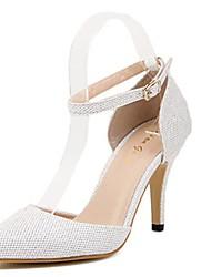 Stiletto - Lackleder - FRAUEN Absätze/Spitze Zehe - Pumps / High Heels ( Silber/Gold )