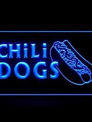 Перец чили Собаки Реклама светодиодные Вход