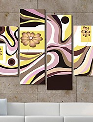 Stretched Canvas Art Gorgeous Flowers Set of 4