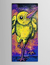 Hand Painted Oil Painting Animal Yellow Birds with Stretched Frame