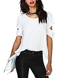 Kvinna Backless Chiffong T-shirt
