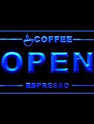 Свежий кофе Эспрессо Реклама светодиодные Вход
