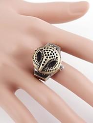 Gufo Metal Case analogico al quarzo dell'anello Watch (1pc)