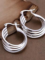 vilin spirale bande boucles d'oreilles de femmes